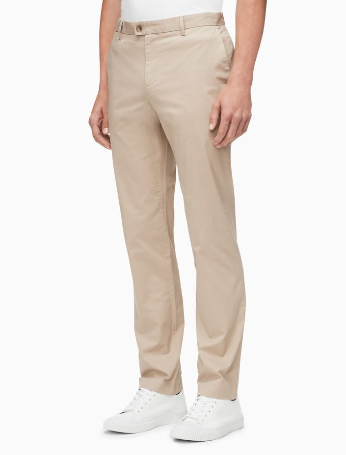 New Essentials Slim Fit Solid Stretch Chino Pants by Calvin Klein