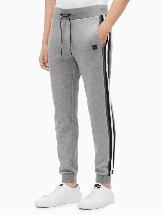 Regular Fit Knit Striped Jogger Sweatpants by Calvin Klein