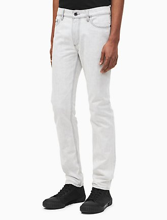 skinny fit stained sand jeans