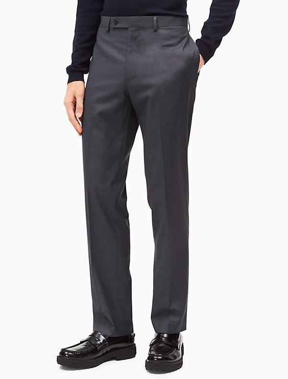 Slim Fit Dark Grey Dress Pants Calvin Klein