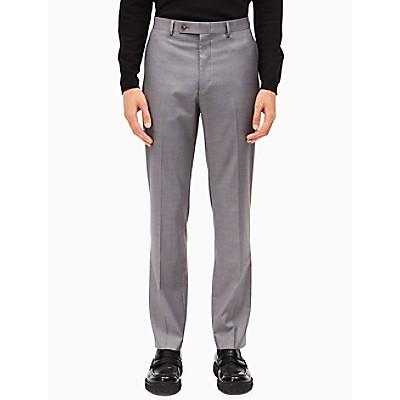 Slim Fit Light Grey Dress Pants Calvin Klein