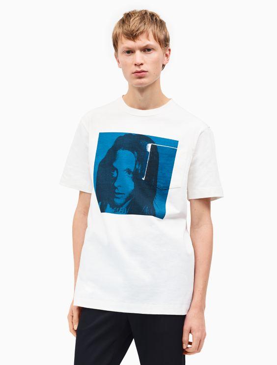 Off-White Sandra Brant Patch T-Shirt CALVIN KLEIN 205W39NYC