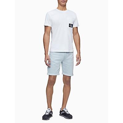 Straight Fit Light Wash Denim Shorts