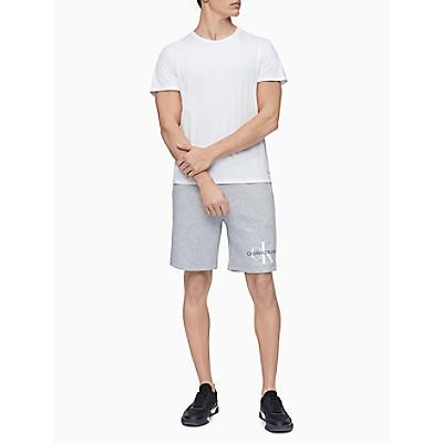 Monogram Logo Drawstring Fleece Shorts