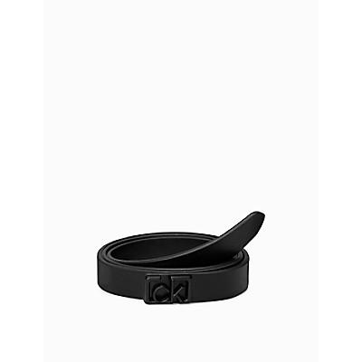 Coated CK Buckle Flat Belt