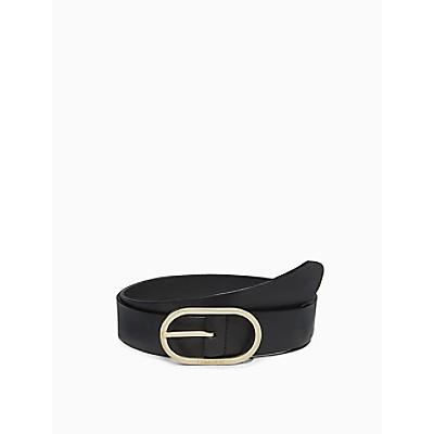 Solid Oval Logo Belt