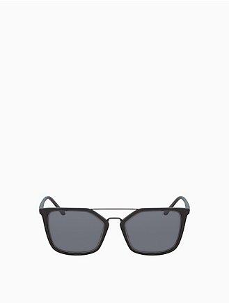 4d3a5d56a4b rectangle metal trim sunglasses
