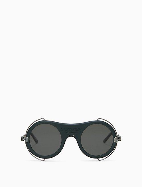 43eccca7134 round metal trim sunglasses with 205W39NYC logo