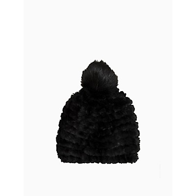 Faux Fur Knit Beanie
