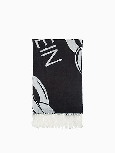 Image of Logo Chain Blanket Scarf