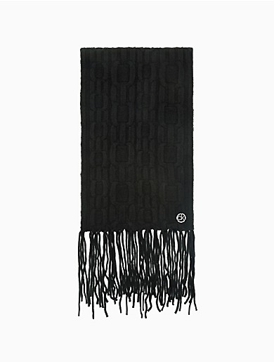 Image of Chain Cable Knit Tassel Scarf