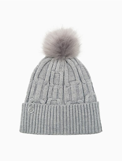 Image of Chain Cable Knit Pom-Pom Hat