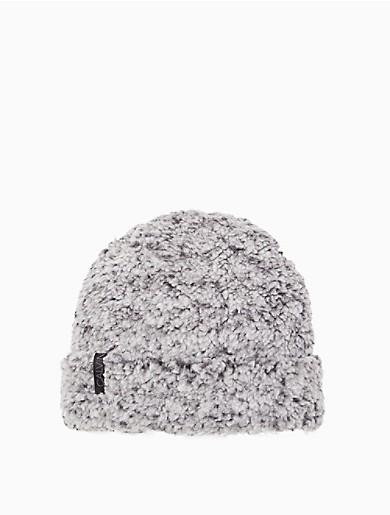 Image of Two Tone Fuzzy Fleece Hat