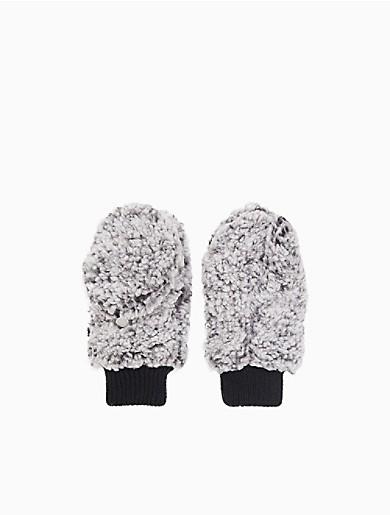 Image of Two Tone Fuzzy Fleece Gloves