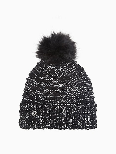 Image of Boucle Lurex Pom-Pom Hat