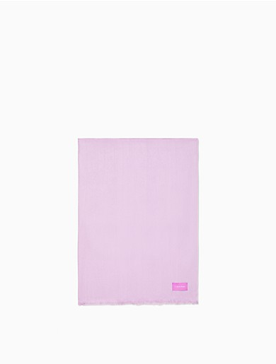 Image of Solid Satin-Feel Pashmina Scarf