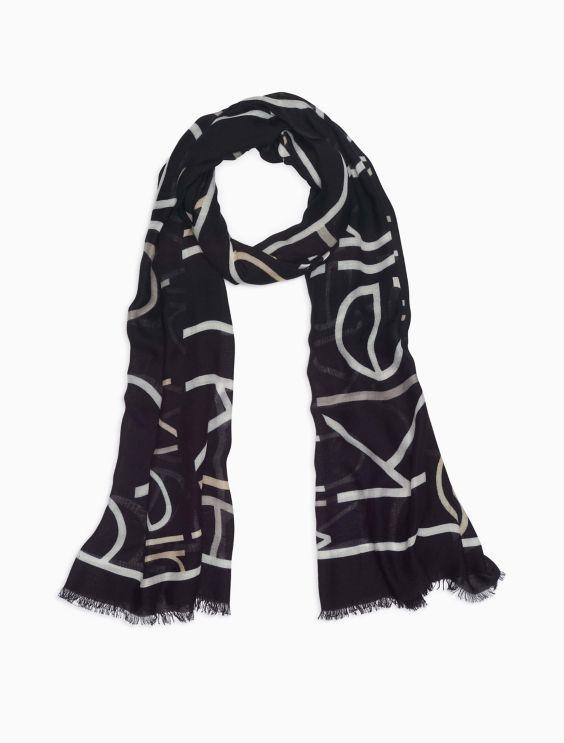 checked logo scarf - Black Calvin Klein Jeans