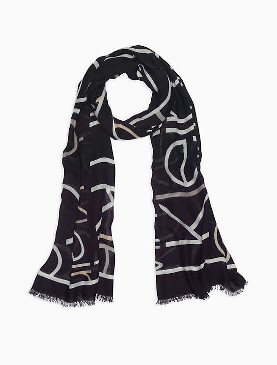 checked logo scarf - Black Calvin Klein Jeans UZ0lk
