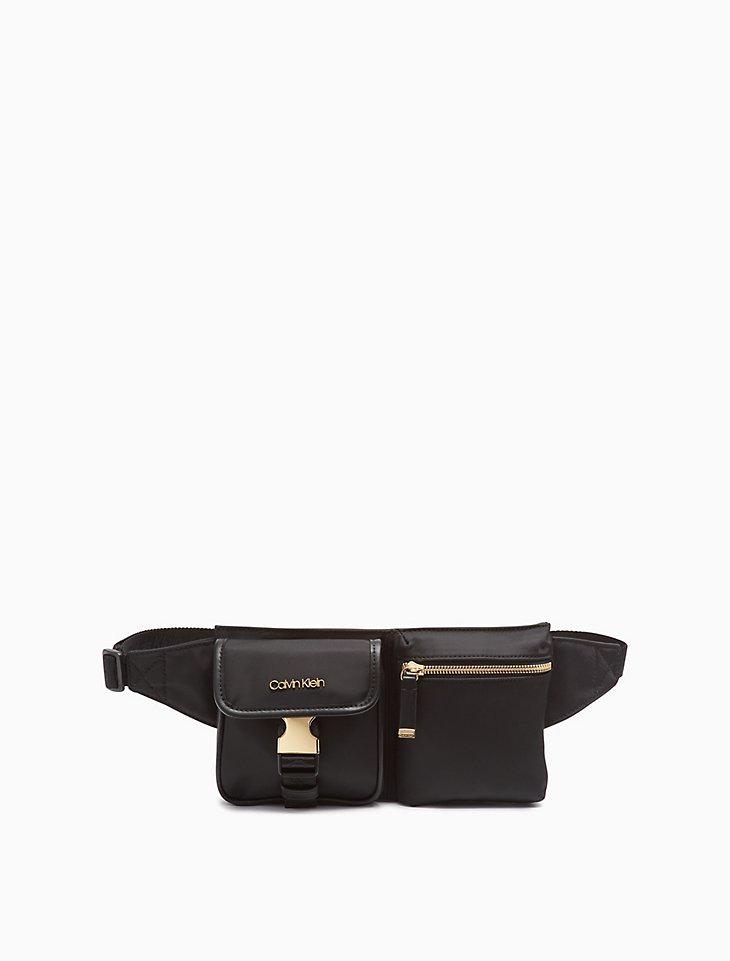 Nylon Dual Pouch Belt Bag by Calvin Klein