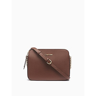 Hayden Saffiano Leather Crossbody Bag