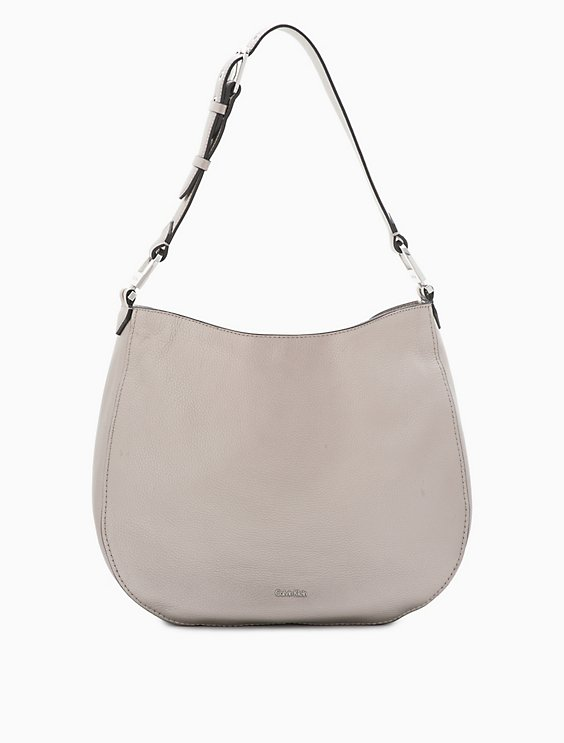afc78c25693 pebble leather large hobo | Calvin Klein