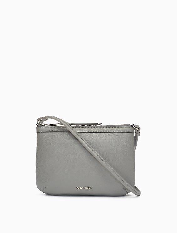 c131baa5a866 pebble leather crossbody bag | Calvin Klein