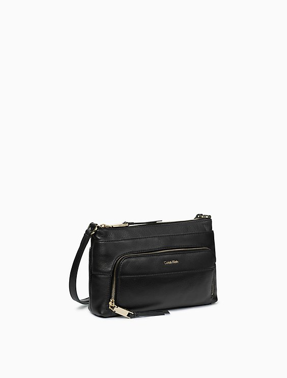 f0b17922f Leather Crossbody Bag | Calvin Klein