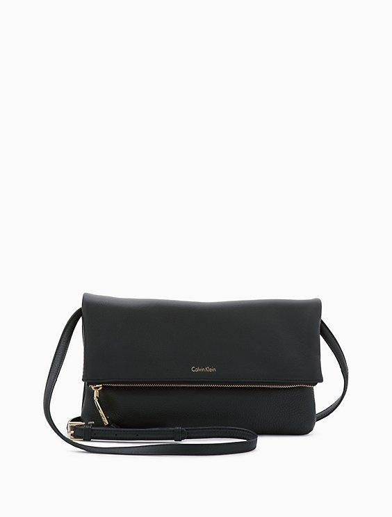 Foldover Leather Crossbody Bag