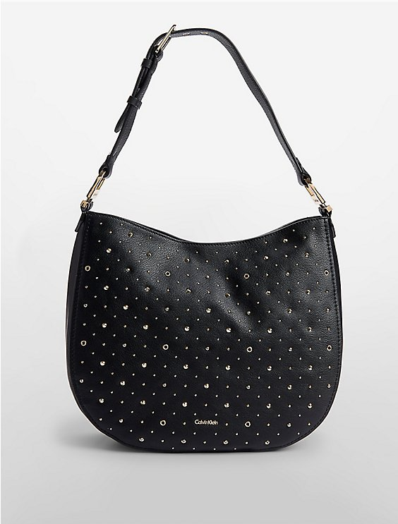Embellished Hobo Bag