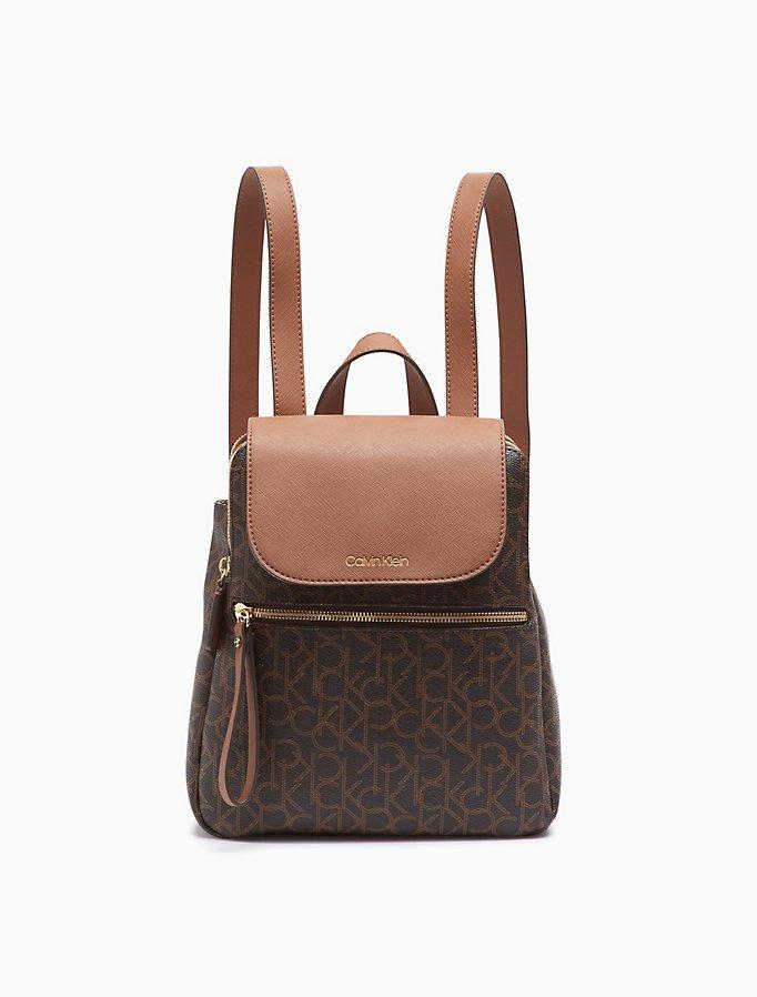 Elaine Ck Monogram Small Backpack by Calvin Klein