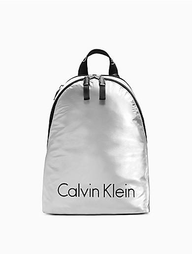 61a45732ffe metallic logo nylon city backpack | Calvin Klein