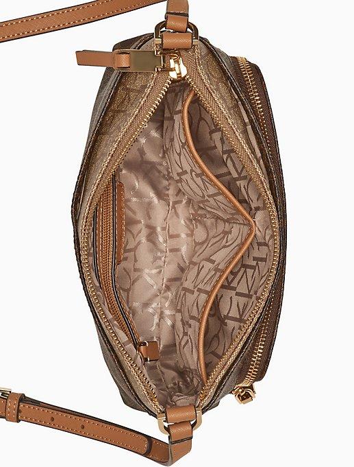 Monogram Zip Crossbody Bag by Calvin Klein