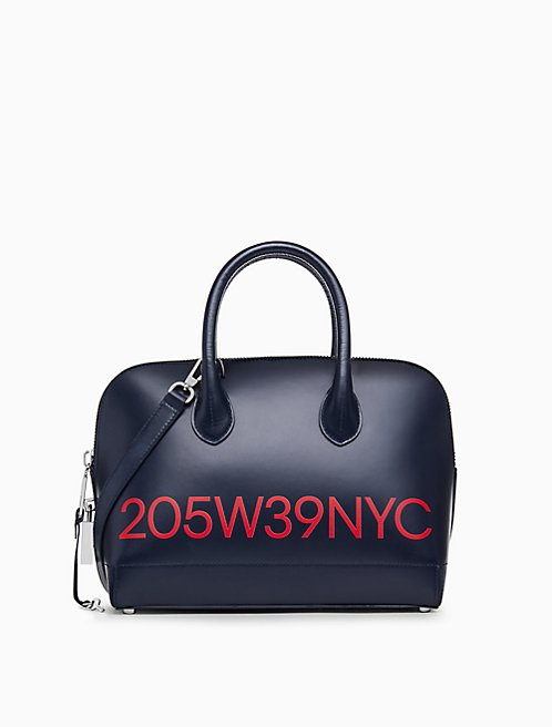 205W39NYC logo small satchel in calf leather 08f592640d5ec