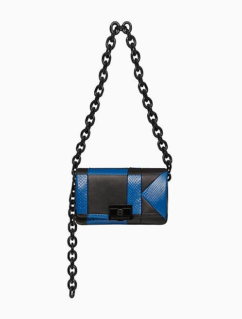 Billie Quilted Large Shoulder Bag In Python And Nappa Leather 42de037f76d7c