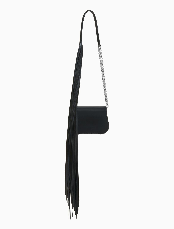 Mini-chaîne D'embrayage Avec Des Franges En Cuir De Veau Noir De Calvin Klein S5hHN