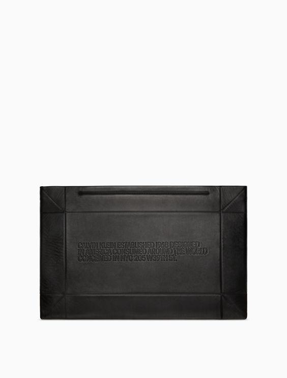 Calvin Klein 205W39nyc embossed geometric clutch