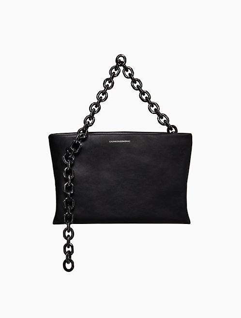 daea035a1eab Scull Soft Chain Clutch In Luxe Calf Leather
