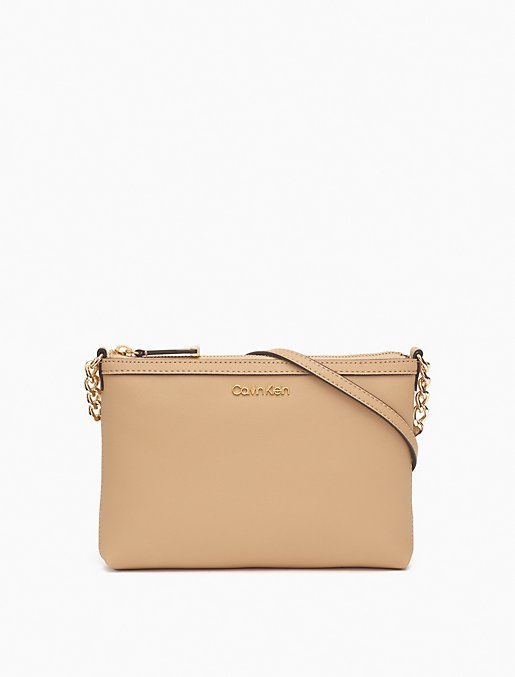 Saffiano Leather Shoulder Zip Bag