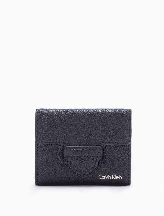 Leather Trifold Wallet Calvin Klein