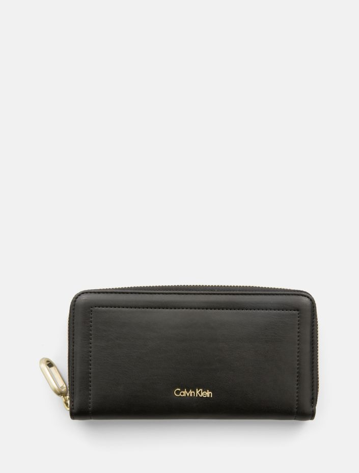 Smooth Large Zip Wallet by Calvin Klein