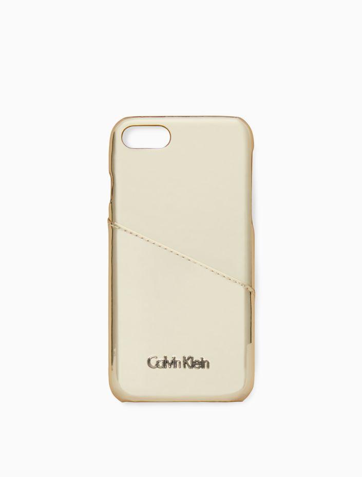 Metallic Logo Iphone Cover by Calvin Klein