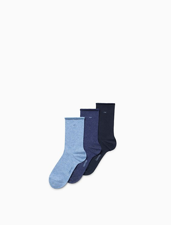 870de282300 3-pack combed cotton rolled cuff crew socks