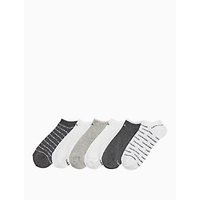 Repeating Logo 6-Pack Ankle Socks