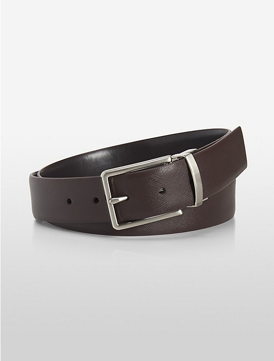 reversible ck logo saffiano leather belt   Calvin Klein f2035476d40