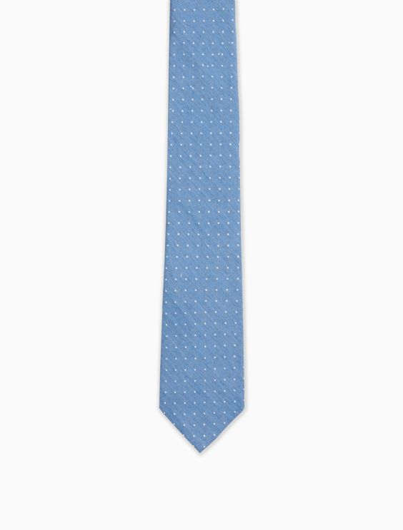 Steel Chambray Dot Tie by Calvin Klein