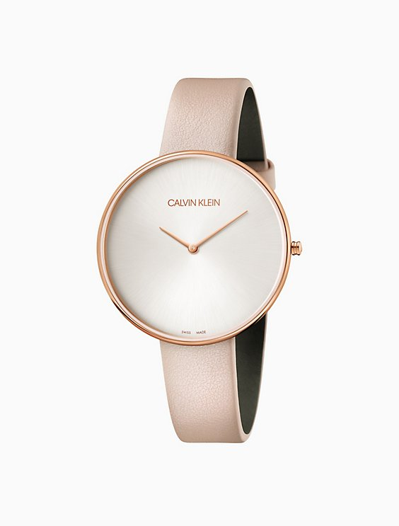 full moon leather rose gold watch  768d8b5d7