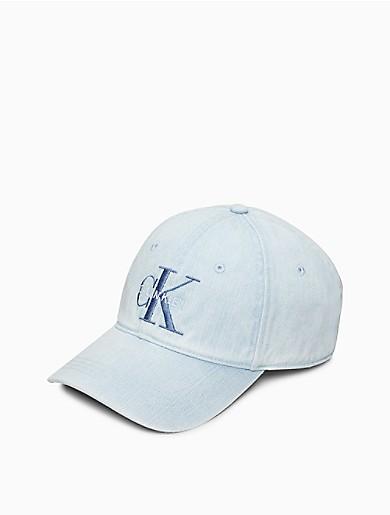 Image of Denim Monogram Logo Hat