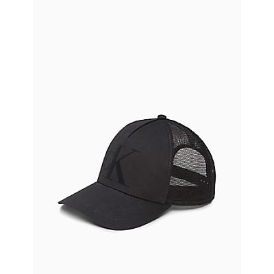 Flocked Monogram Logo Trucker Hat