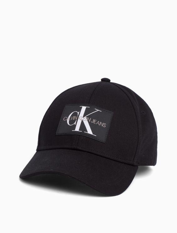 Monogram Logo Cotton Twill Cap by Calvin Klein