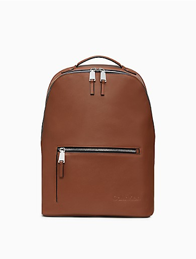 Image of Refined Leather Backpack